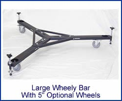 Portable Telescope Pier Wheeley Bar - Large with 4 inch wheel option