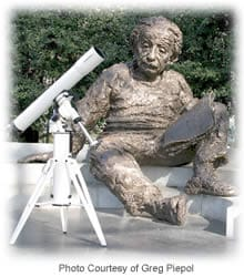 Einstein and Telescope Pier - Photo Courtesy of Greg Piepol